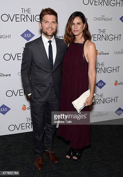 Actor Adam Scott and producer Naomi Scott attend 'The Overnight' New York Premiere at Sunshine Landmark on June 18 2015 in New York City