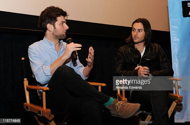 Actor Adam Scott and writer / director Lee Toland Krieger participate in a QA session following an Independent Spirit Awards Screening of The Vicious...