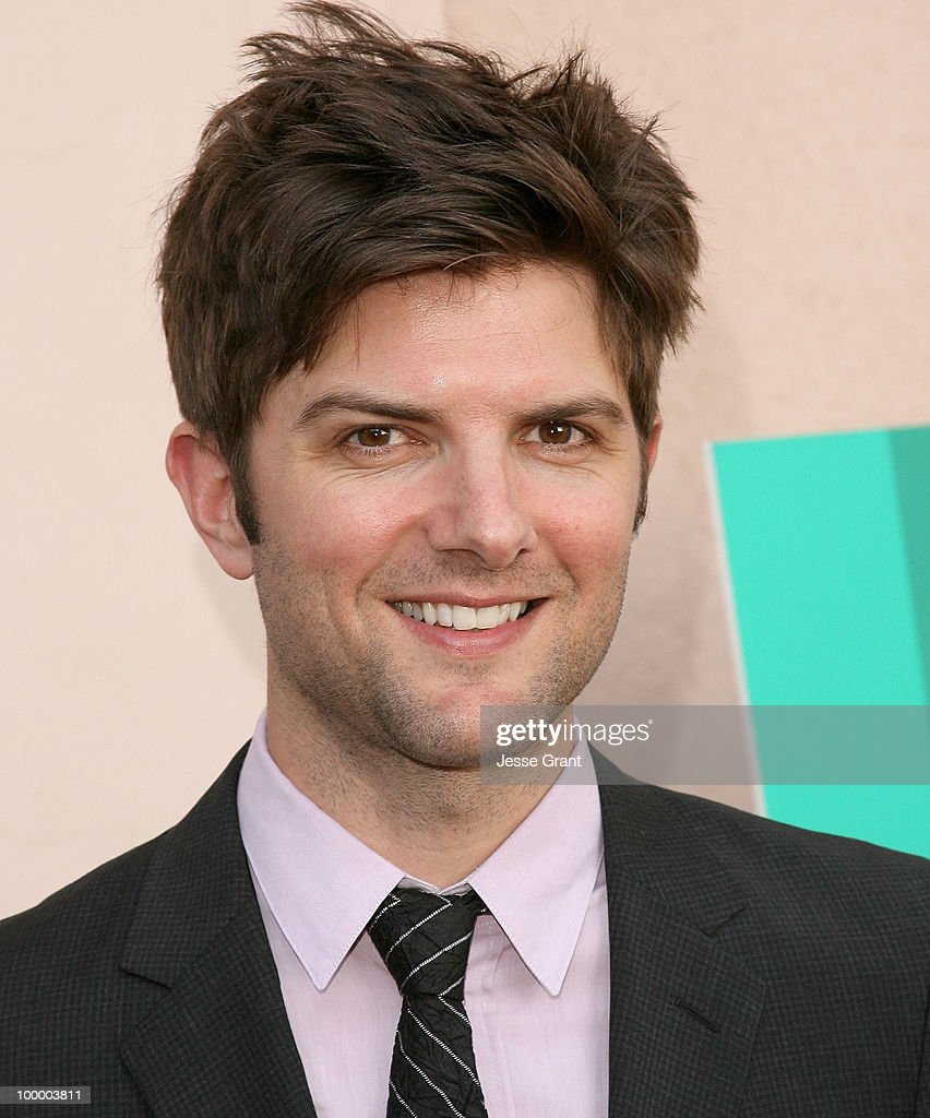 Actor Adam Scott arrives at the 'Parks And Recreation' Emmy Screening at the Leonard H. Goldenson Theatre on May 19, 2010 in Los Angeles, California.