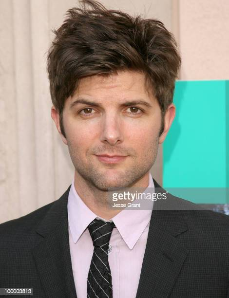 Actor Adam Scott arrives at the Parks And Recreation Emmy Screening at the Leonard H Goldenson Theatre on May 19 2010 in Los Angeles California