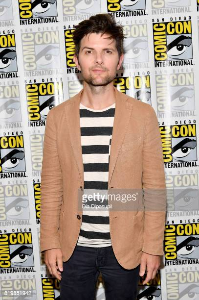 Actor Adam Scott at the 'Ghosted' press line during ComicCon International 2017 at Hilton Bayfront on July 20 2017 in San Diego California