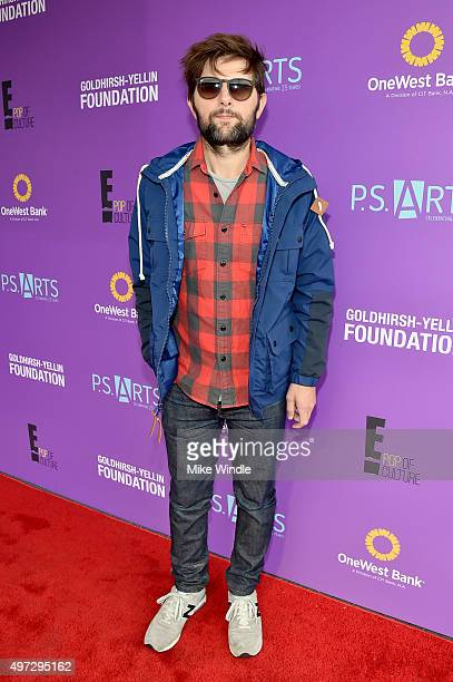 Actor Adam Scott attends Express Yourself 2015 to benefit PS ARTS providing arts education to 25000 public school students each week at Barker Hangar...