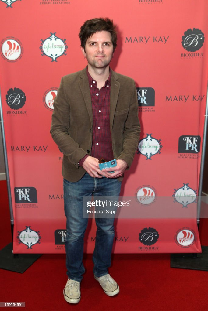Actor Adam Scott attends Kari Feinstein's Pre-Golden Globes Style Lounge at the W Hollywood on January 10, 2013 in Hollywood, California.