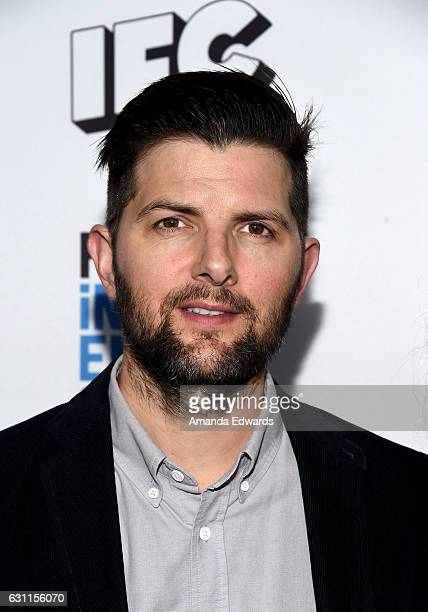Actor Adam Scott attends the 2017 Film Independent Filmmaker Grant and Spirit Award Nominees Brunch at BOA Steakhouse on January 7 2017 in West...