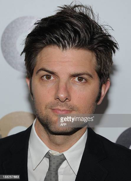 Actor Adam Scott attends the GQ Men of the year party at the Chateau Marmont in Hollywood California on November 17 2011 AFP PHOTO/ANGELA WEISS