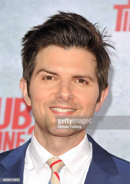 Actor Adam Scott attends the premiere of Paramount Pictures' 'Hot Tub Time Machine 2' at Regency Village Theatre on February 18 2015 in Westwood...