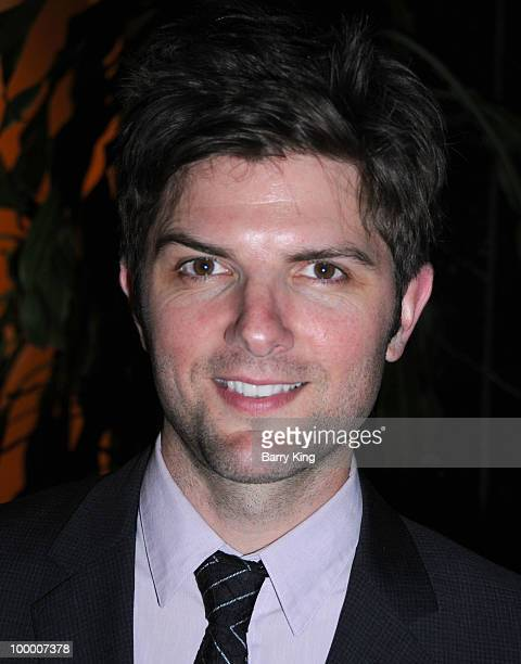 Actor Adam Scott attends the reception for NBC's Parks and Recreation Emmy Screening held at the Leonard H Goldenson Theatre on May 19 2010 in North...