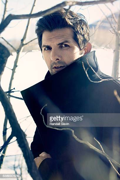 Actor Adam Scott is photographed for Ad Week on January 26 2015 in Park City Utah