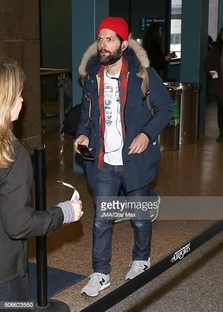 Actor Adam Scott is seen on January 24 2016 at The Salt Lake City International Airport in Salt Lake City Utah