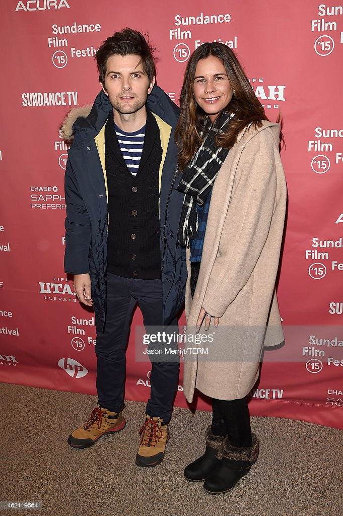 Actor Adam Scott (L) Naomi Scott attend the 'Sleeping With Other People' premiere during the 2015 Sundance Film Festival on January 24, 2015 in Park City, Utah.