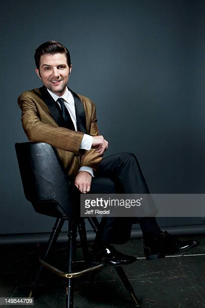 Actor Adam Scott poses for People Magazine on November 4 2011 in Los Angeles California