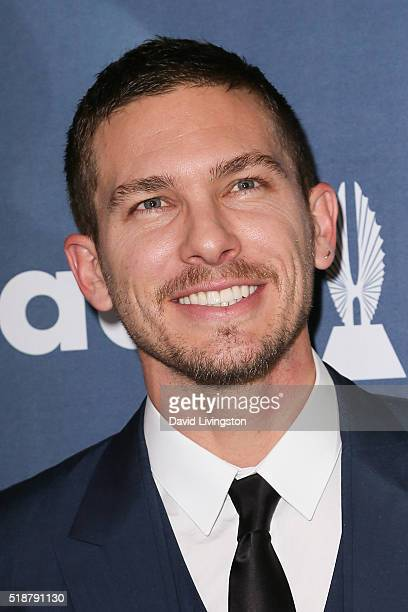 Actor Adam Senn arrives at the 27th Annual GLAAD Media Awards at The Beverly Hilton Hotel on April 2 2016 in Beverly Hills California