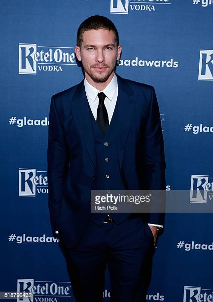 Actor Adam Senn attends the 27th Annual GLAAD Media Awards hosted by Ketel One Vodka at the Beverly Hilton on April 2 2016 in Beverly Hills California