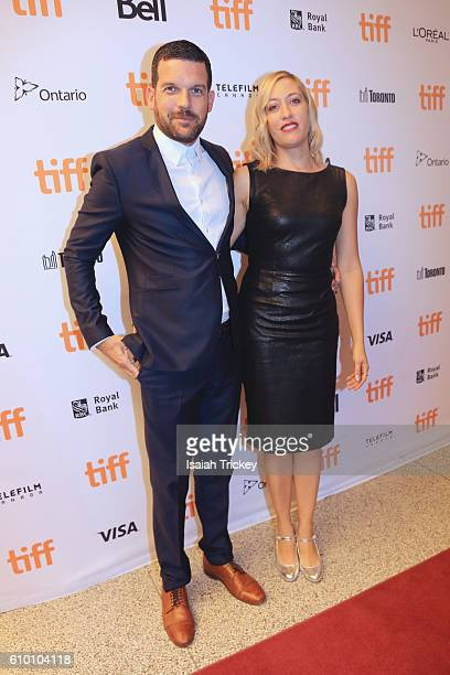 Actor Adam Sinclair and director Michelle Gath Sinclair attend the 'Terry Kath Experience' premiere during the 2016 Toronto International Film...