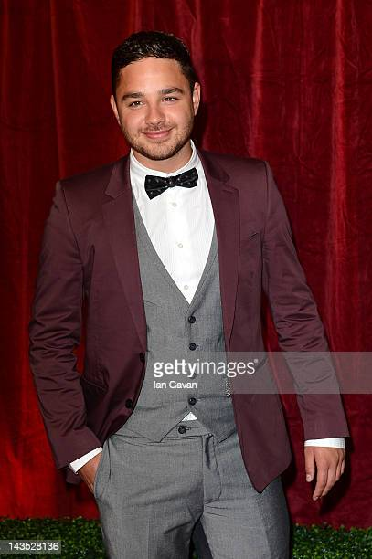 Actor Adam Thomas attends The 2012 British Soap Awards at ITV Studios on April 28 2012 in London England