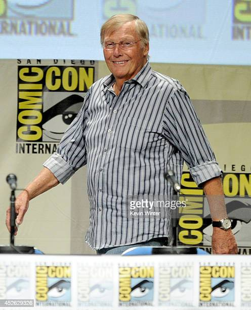 Actor Adam West attends the 'Batman The Complete Series' DVD release presentation during ComicCon International 2014 at the San Diego Convention...