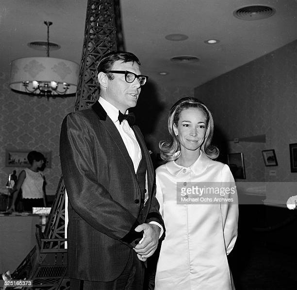 Actor Adam West with Julie Brand attends an event in Los AngelesCA