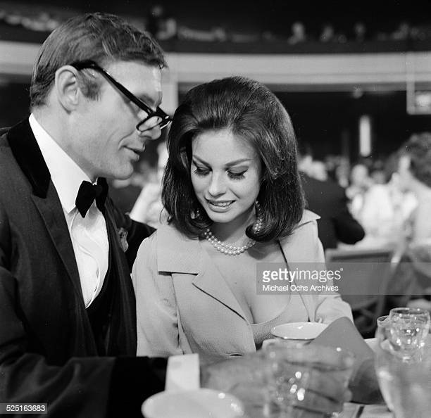 Actor Adam West with Laura Ward attends an event in Los AngelesCA