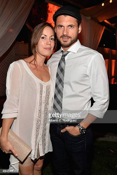 Actor Adan Canto and Stephanie Lindquist attend NDRC Food For Thought Benefit celebrating safe and sustainable eating on May 29 2014 in Santa Monica...