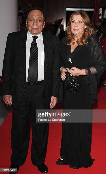 Actor Adel Imam and a guest attend the opening night of the Cinema Verite on October 10 2008 in Geneva Switzerland