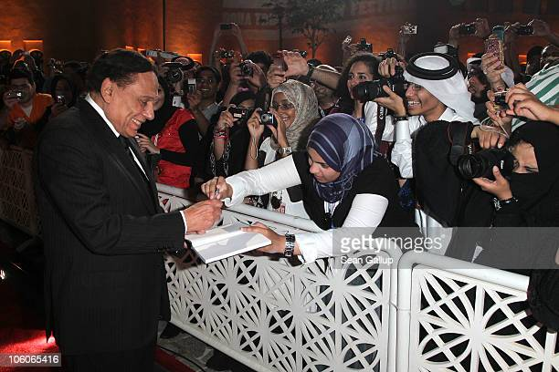 Actor Adel Imam attends the Opening Night Gala during the 2010 Doha Tribeca Film Festival held at the Katara Opera House on October 26 2010 in Doha...