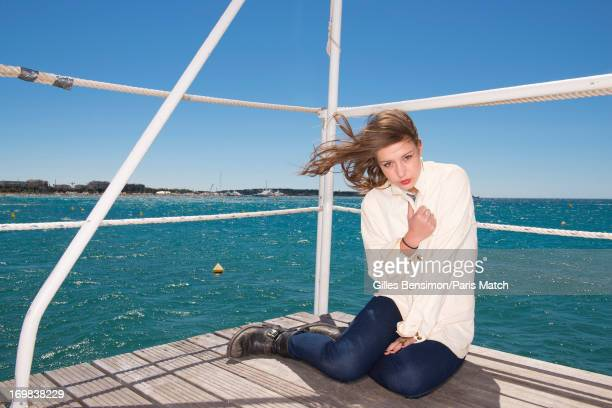 Actor Adele Exarchopoulos ia photographed for Paris Match on May 25 2013 in Cannes France