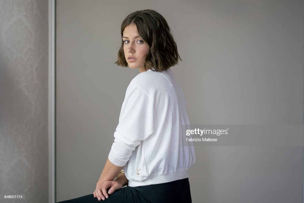 Actor Adele Exarchopoulos is photographed on September 7, 2017 in Venice, Italy.