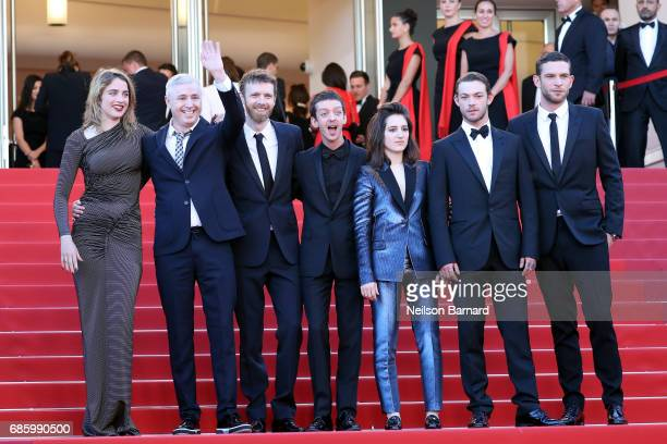 Actor Adele Haenel director Robin Campillo actors Antoine Reinartz Aloise Sauvage Felix Maritaud and Arnaud Valois attend the attends the 120 Beats...