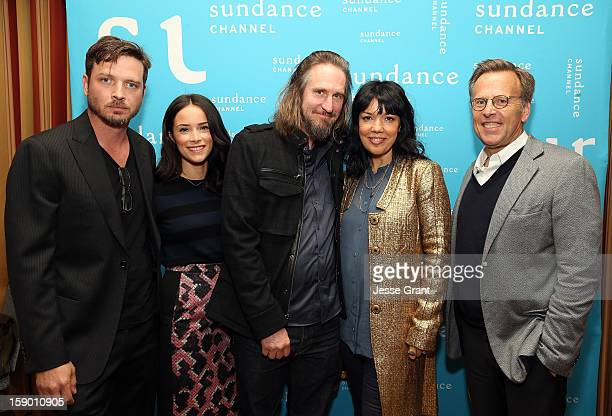 Actor Aden Young actress Abigail Spencer creator/writer Raymond McKinnon Sundance Channel Executive Vice President and General Manager Sarah Barnett...