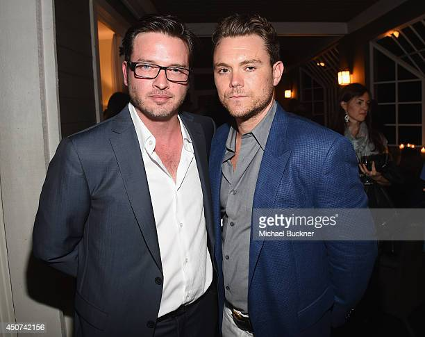 Actor Aden Young and actor Clayne Crawford attend the after party for SundanceTV's 'Rectify' Season Two at the Chateau Marmont on June 16 2014 in Los...