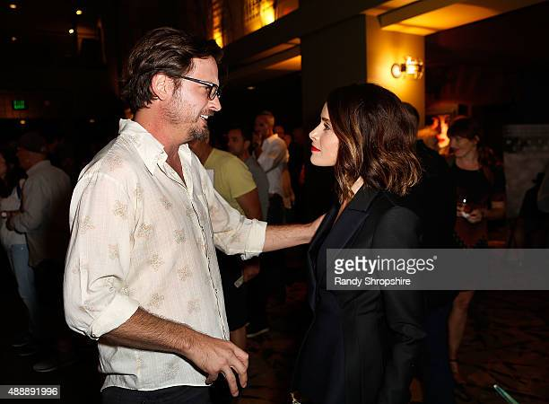 Actor Aden Young and actress/producer Abigail Spencer attend the private screening of Oscar qualified short film 'Winter Light' at Sundance Sunset...