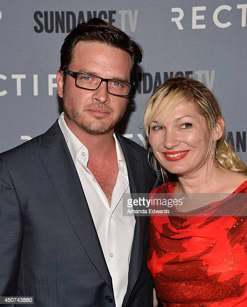 Actor Aden Young and Loene Carmen arrive at the SundanceTV Series Rectify Season 2 Premiere at the Sundance Sunset Cinema on June 16 2014 in Los...