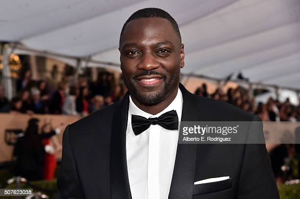 Actor Adewale AkinnuoyeAgbaje attends the 22nd Annual Screen Actors Guild Awards at The Shrine Auditorium on January 30 2016 in Los Angeles California