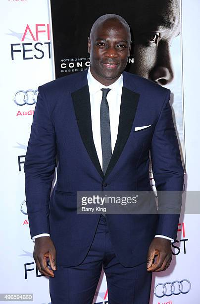 Actor Adewale AkinnuoyeAgbaje attends the AFI FEST 2015 Presented By Audi Centerpiece Gala Premiere Of Columbia Pictures' 'Concussion' at the TCL...