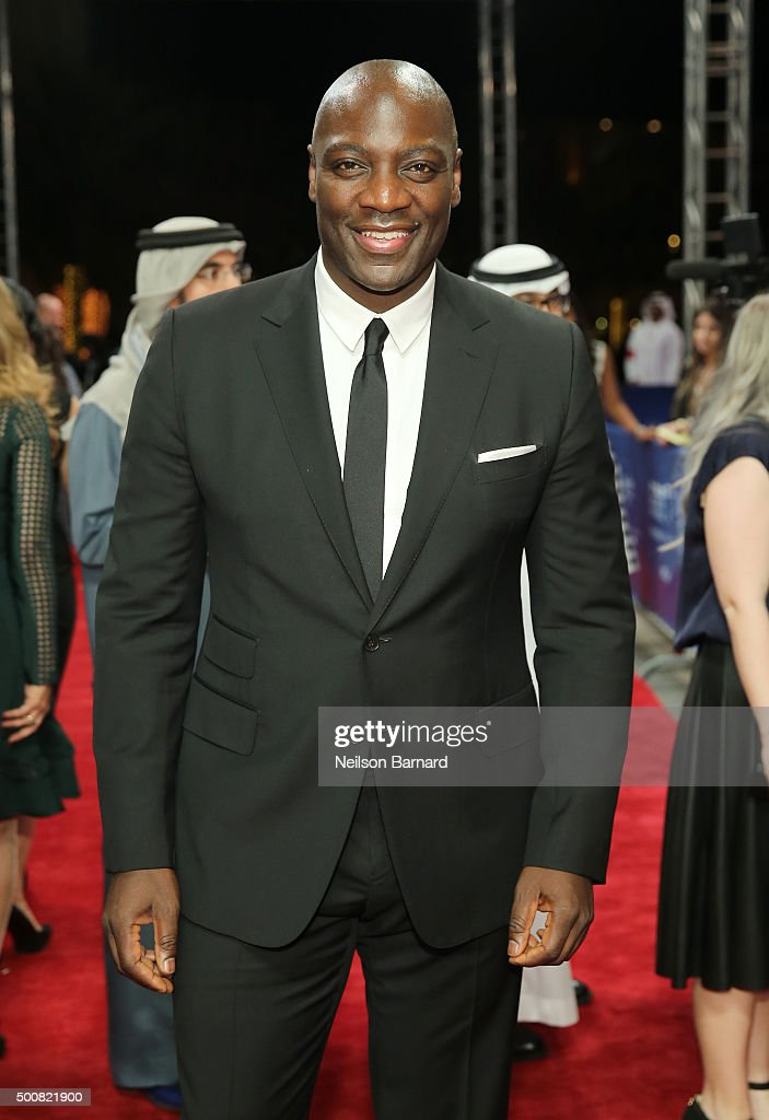 Actor Adewale Akinnuoye-Agbaje attends the 'Bilal' premiere during day two of the 12th annual Dubai International Film Festival held at the Madinat Jumeriah Complex on December 10, 2015 in Dubai, United Arab Emirates.