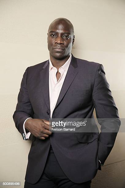 Actor Adewale AkinnuoyeAgbaje poses during a portrait session on day two of the 12th annual Dubai International Film Festival held at the Madinat...