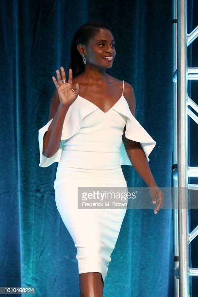 Actor Adina Porter walks onstage at the 'American Horror Story Apocalypse' panel during the FX Network portion of the Summer 2018 TCA Press Tour at...