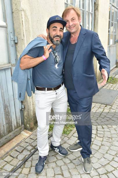 Actor Adnan Maral and Eckhard F Preuss attend the FFF reception during the Munich Film Festival 2018 at Praterinsel on July 5 2018 in Munich Germany