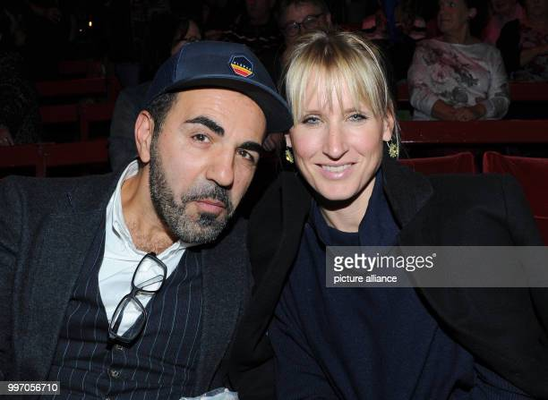 Actor Adnan Maral and wife Franziska during the premiere gala of Circus Roncalli under the slogan '40 years of traveling towards the rainbow' at the...