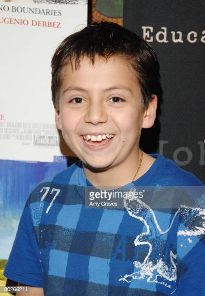 Actor Adrian Alonso attends a FIND screening of Under the Same Moon at the Vista Theater on March 10 2008 in Los Angeles California