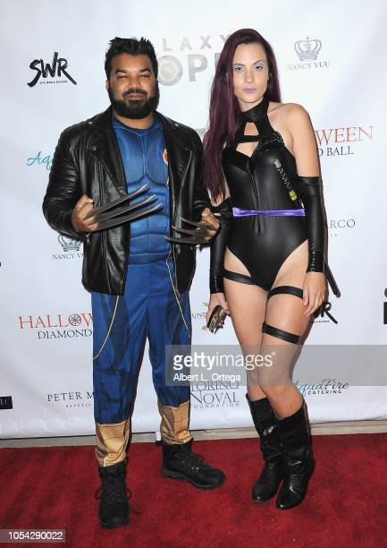 Actor Adrian Dev and Kristi Tucker attend Casazul Tequila Presents The Haunted House Of Bel Air held at a Private Residence on October 26 2018 in Bel...