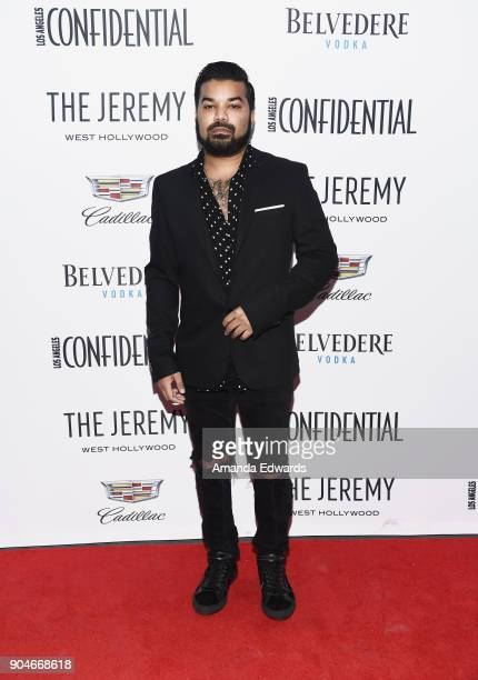 Actor Adrian Dev arrives at the Los Angeles Confidential 'Awards Issue' Celebration hosted by cover stars Alison Brie Milo Ventimiglia and Ana de...