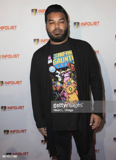 Actor Adrian Dev arrives for the INFOLISTcom's Annual PreComicCon Party held at OHM Nightclub on July 12 2018 in Hollywood California