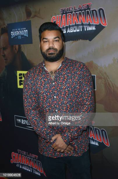 Actor Adrian Dev arrives for the Premiere Of The Asylum And Syfy's 'The Last Sharknado It's About Time' held at Cinemark Playa Vista on August 19...