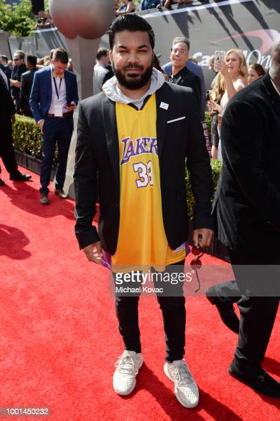 Actor Adrian Dev attends the 2018 ESPY Awards Red Carpet Show Live Celebrates With Moet Chandon at Microsoft Theater on July 18 2018 in Los Angeles...