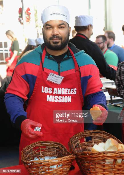 Actor Adrian Dev attends the Los Angeles Mission Christmas On Skid Row held at Los Angeles Mission on December 21 2018 in Los Angeles California