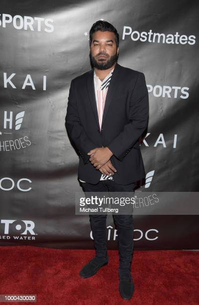 Actor Adrian Dev attends VaynerSports' 2nd Annual Celebrity ESPY's KickOff Party at Dream Hotel on July 16 2018 in Hollywood California