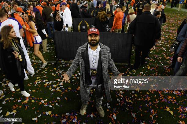 Actor Adrian Dev is seen after the CFP National Championship between the Alabama Crimson Tide and the Clemson Tigers presented by ATT at Levi's...