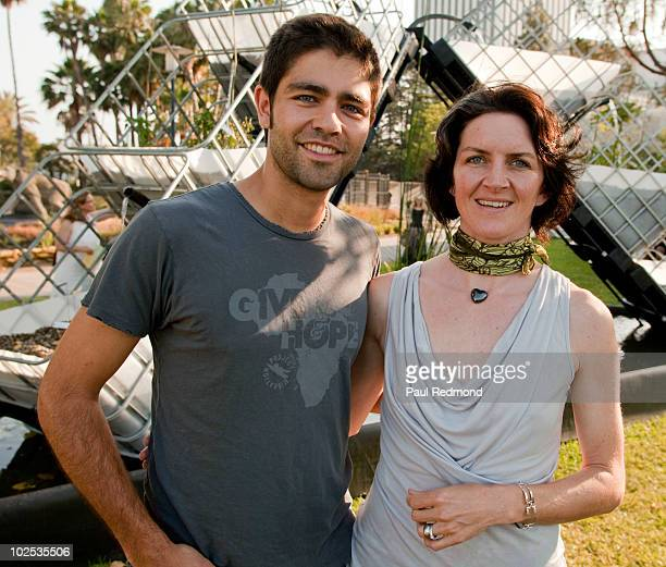 Actor Adrian Grenier and artist Jenna Didier attend the EATLACMA opening event at Los Angeles County Museum of Art on June 27 2010 in Los Angeles...