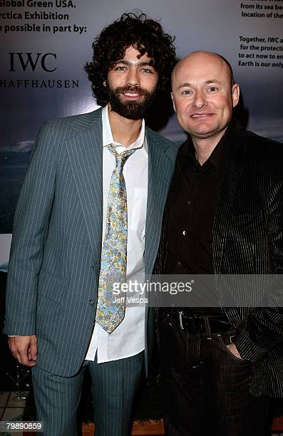 Actor Adrian Grenier and CEO of IWC Georges Kern at Global Green USA's 5th Annual Pre Oscar Party raising awareness about smart climate solutions and...